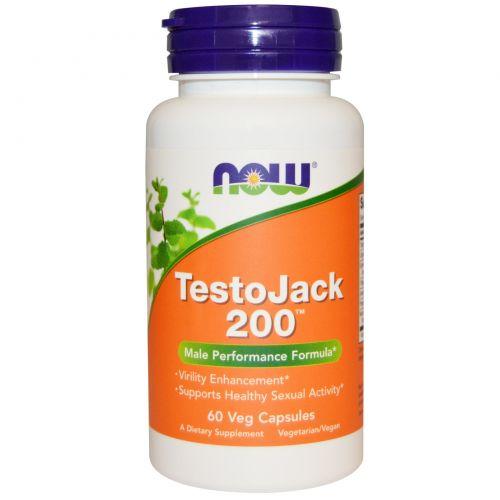 Now Foods, TestoJack 200, 60 вегетарианских капсул