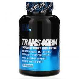 EVLution Nutrition, Trans4orm Thermogenic Energizing Fat Burner Supplement, 120 Capsules