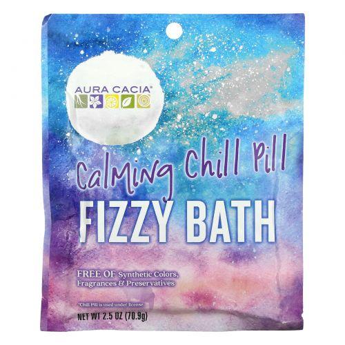 Aura Cacia, Fizzy Bath, Calming Chill Pill, 2.5 oz (70.9 g)