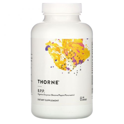 Thorne Research, B.P.P., (Betaine / Pepsin / Pancreatine), Digestive Enzymes, 180 Capsules