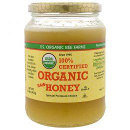 Y.S. Eco Bee Farms, 100% Органический сырой мед, 2,0 фунта (907 г)