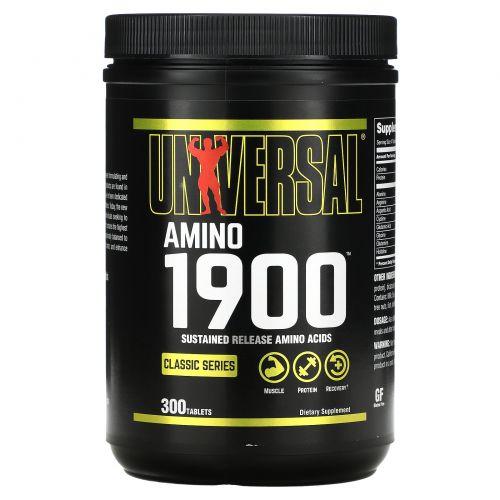 Universal Nutrition, Амино 1900, Аминокислотная Добавка 300 таблеток