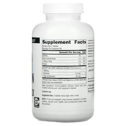 Source Naturals, Генистеин, соевый комплекс, 1,000 мг, 120 таблеток