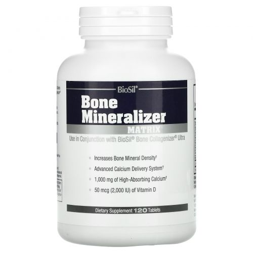BioSil by Natural Factors, BioSil, Bone Mineralizer Matrix, 120 Tablets