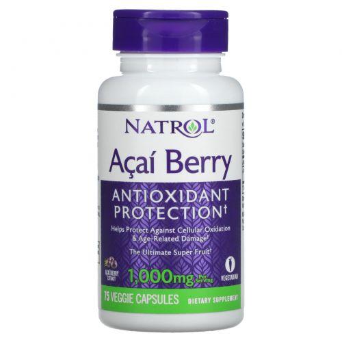 Natrol, Питательная ягода асаи, 75 капсул