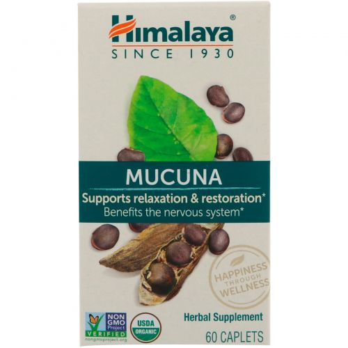 Himalaya Herbal Healthcare, Mucuna, успокаивающий тоник, 60 каплет