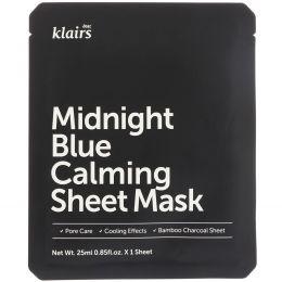 Dear, Klairs, Midnight Blue Calming Sheet Mask, 1 Mask, 0.85 fl oz (25 ml)