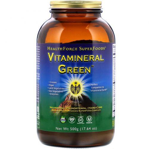 HealthForce Nutritionals, Vitamineral Green, версия 5.3, 17,64 унции (500 г)