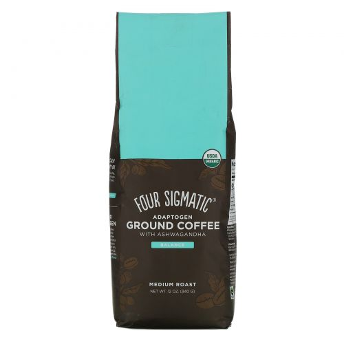 Four Sigmatic, Adaptogen Ground Coffee with Ashwagandha, Medium Roast, 12 oz (340 g)