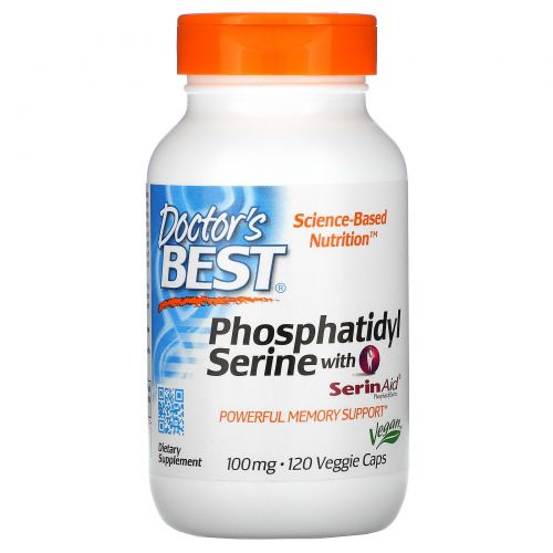 Doctor's Best, Phosphatidylserine with SerinAid, 100 mg, 120 Veggie Caps