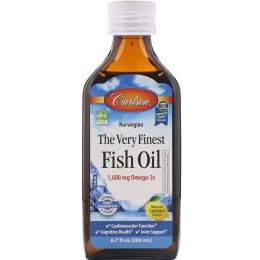 Carlson Labs, Norwegian, The Very Finest Fish Oil, Natural Lemon Flavor, 6.7 fl oz (200 ml)