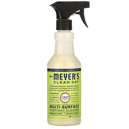 Mrs. Meyers Clean Day, Средство для очищения различного рода поверхностей, с запахом лимонной вербены, 16 жидких унций (473 мл)