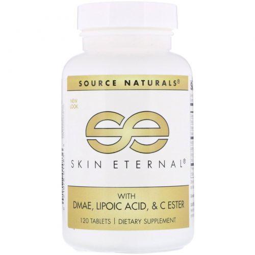 Source Naturals, Вечность кожи с ДMAЭ, липоевой кислотой и сложноэфирный витамин C, 120 таблеток