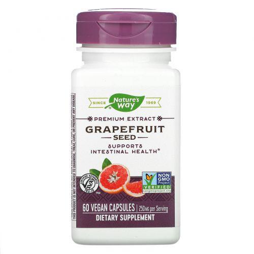 Nature's Way, Грейпфрут, 250 мг, 60 вегетарианских кепов