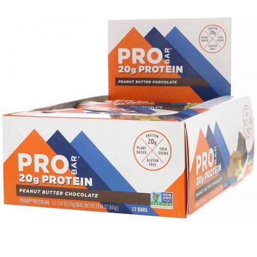 ProBar, Core, The 20 g Protein Bar, Chocolate Peanut Butter, 12 Bars, 2.46 oz. EA