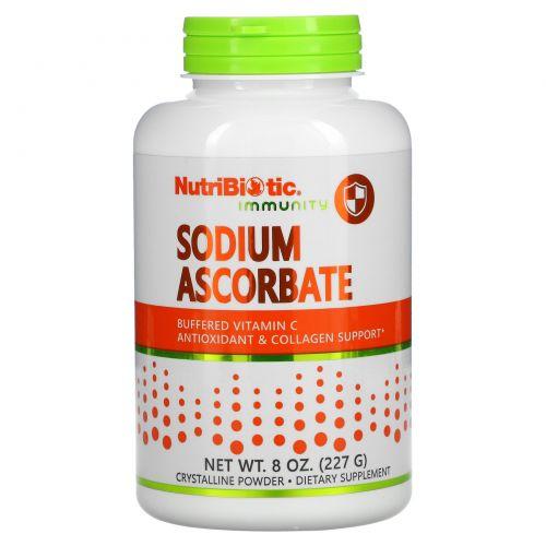 NutriBiotic, Буферизованный содой витамин C, кристаллический порошок, 8 унций (227 г)