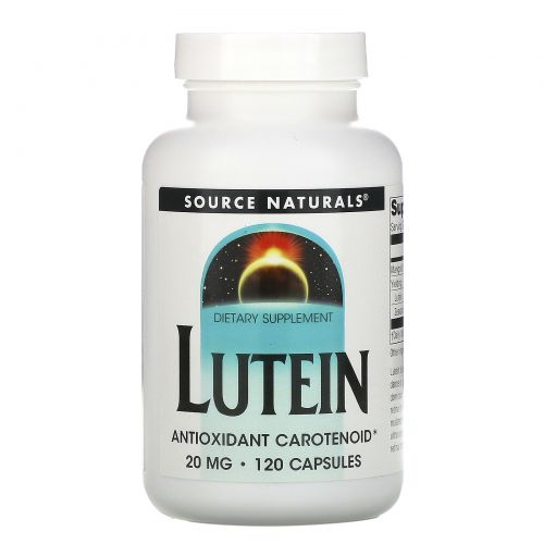 Source Naturals, Лютеин, 20 мг, 120 капсул