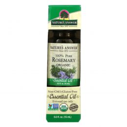 Nature's Answer, Органические эфирные масла, масло розмарина, 0,5 жидких унций (15 мл)