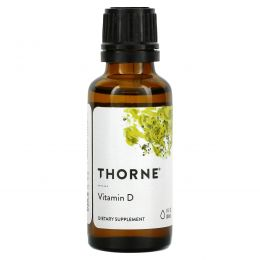 Thorne Research, Витамин D, 1 жидкая унция (30 мл)