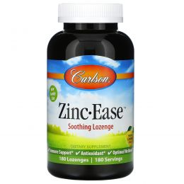 Carlson Labs, Zinc-Ease, Natural Lemon, 180 Lozenges