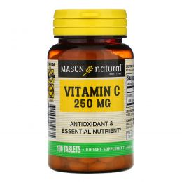 Mason Natural, Vitamin C, 250 mg, 100 Tablets