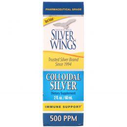 Natural Path Silver Wings, Коллоидное серебро, 500 частей на миллион, 2 жидких унций (60 мл)