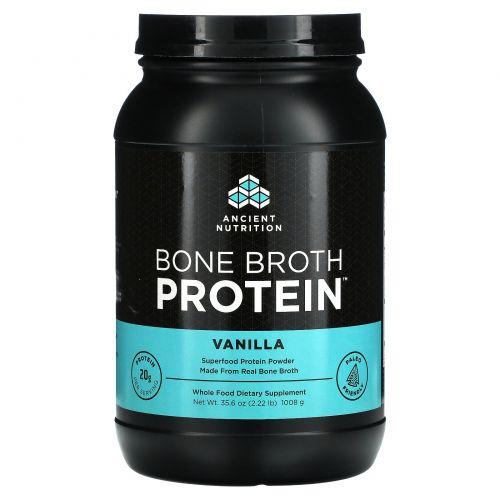 Ancient Nutrition, Белок из костного бульона, Ваниль, 986 г (34.8 oz)