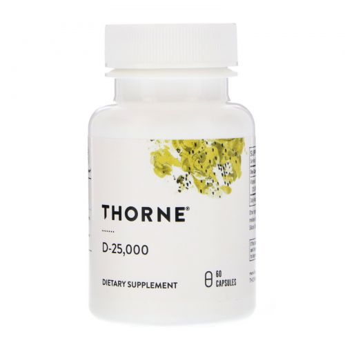 Thorne Research, D-25,000, 60 Capsules