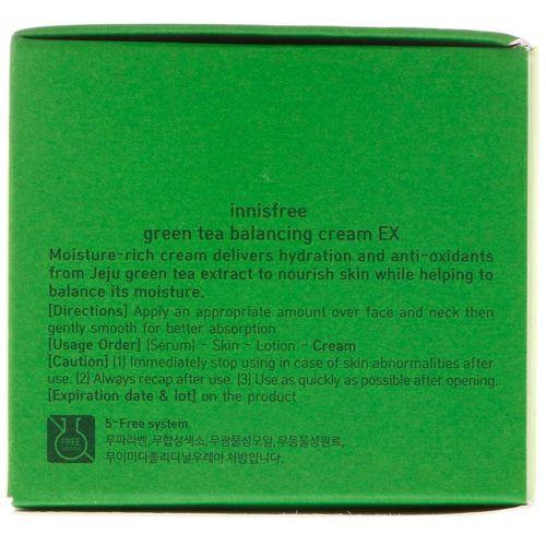 Innisfree, Green Tea Balancing Cream EX, 1,69 унц. (50 мл)