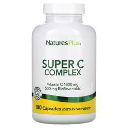 Nature's Plus, Супер комлекс витаминов С, 180 растительных капсул