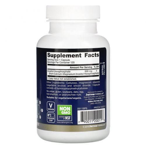 Jarrow Formulas, IP6, инозитол гексафосфат, 500 мг, 120 капсул в растительной оболочке