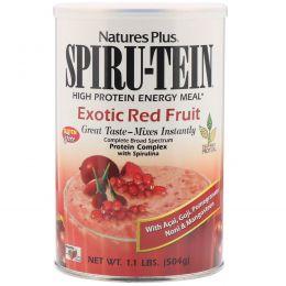Nature's Plus, Сыворотка Spiru-Tein, питание с высоким содержанием белка, экзотические красные ягоды, 504 г