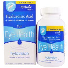 Hyalogic LLC, Hylavision, гиалуроновая кислота, 120 капсул