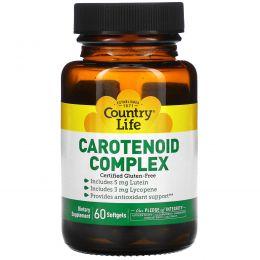 Country Life, Каротиноидный комплекс, 60 желатиновых капсул