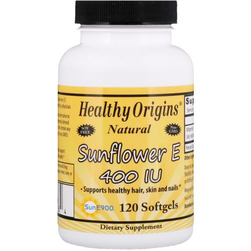 Healthy Origins, E-400 IU, Sunflower, 120 Softgel Capsules