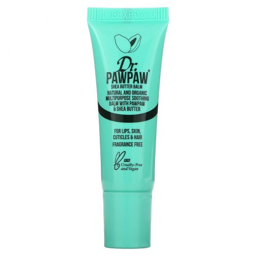 Dr. PAWPAW, Multipurpose Soothing Balm with Pawpaw & Shea Butter, Fragrance Free, 0.33 fl oz (10 ml)