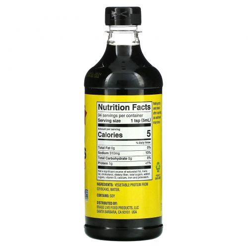 Bragg, Жидкие аминокислоты, природная альтернатива соевому соусу, 16 жидких унций (473 мл)