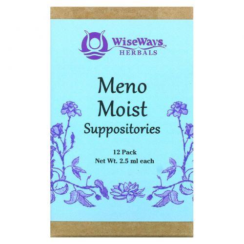 WiseWays Herbals, LLC, Свечи Meno Moist, 12 штук, 4,5 унции (2,5 мл) каждая
