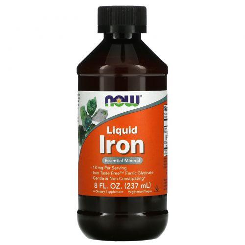 Now Foods, Жидкое железо, 8 жидк. унц. (237 мл)