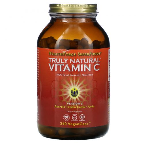 HealthForce Superfoods, ВитаминC v.2 Truly Natural, 360капсул VeganCaps
