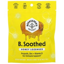 Beekeeper's Naturals, B. Soothed, Honey Lozenges, 14 Drops, 1.76 oz (50 g)
