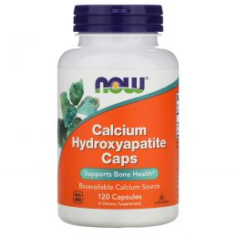 Now Foods, Calcium Hydroxyapatite Caps, 120 капсул