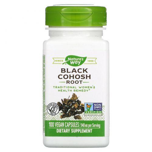 Nature's Way, Black Cohosh Root, 540 mg, 100 Vegetarian Capsules