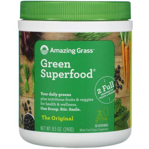 Amazing Grass, Оригинальная зеленая суперпища, 8,5 унций (240 г), 8,5 унций (240 г)