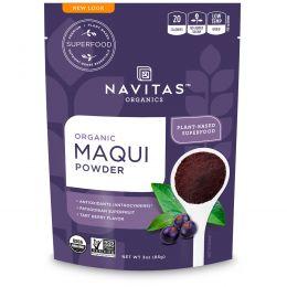 Navitas Organics, Органический порошок из патагонских ягод маки Maqui Powder, Patagonian Superfruit, 85 г