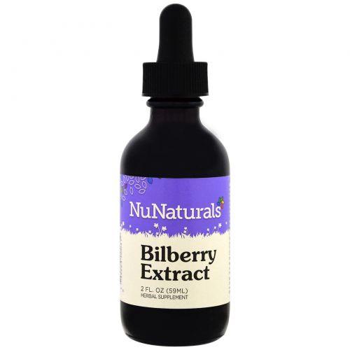NuNaturals, Чистая жидкость, черника, 2 унции (59 мл)