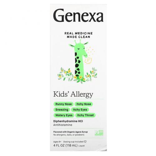 Genexa, Kid's Allergy, Organic Agave Syrup , 4 fl oz (118 ml)