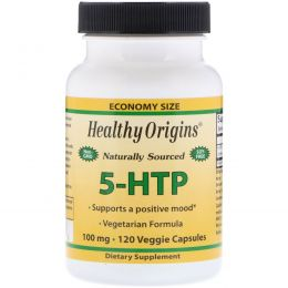Healthy Origins, Окситриптан, 100 мг, 120 капсул на растительной основе
