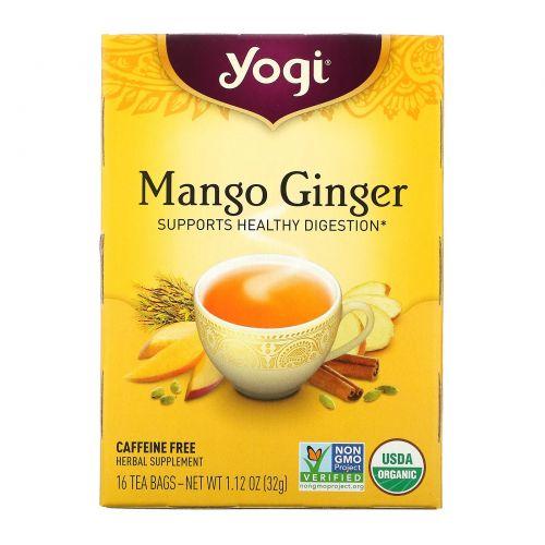 Yogi Tea, Манго Имбирь, без кофеина, 16 пакетиков, 32 г (1.12 oz)