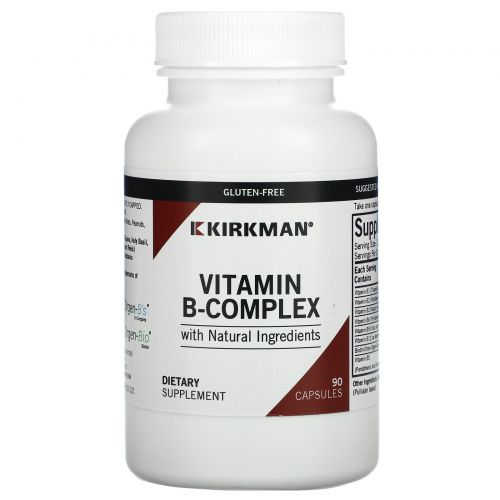 Kirkman Labs, Органический комплекс витамина B, 90 капсул